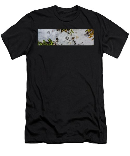 Mountain Lion Tracks In Snow Men's T-Shirt (Athletic Fit)