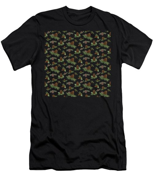 Mountain Lodge Cabin In The Forest - Home Decor Pine Cones Men's T-Shirt (Athletic Fit)