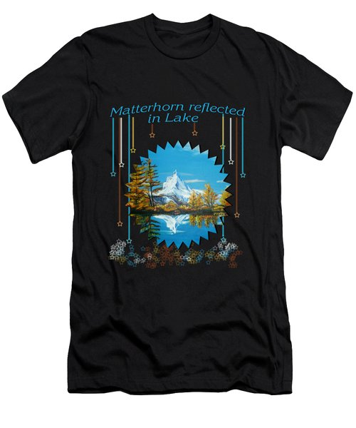 Mountain Matterhorn Lake View  Men's T-Shirt (Athletic Fit)