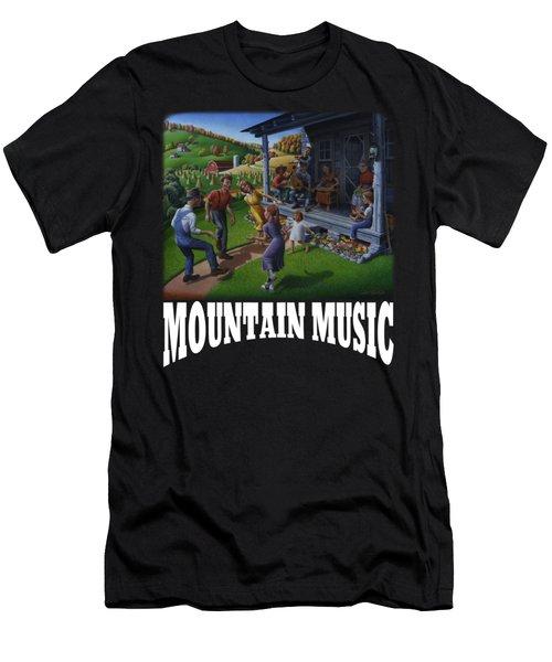 Mountain Music T Shirt 2 Men's T-Shirt (Athletic Fit)