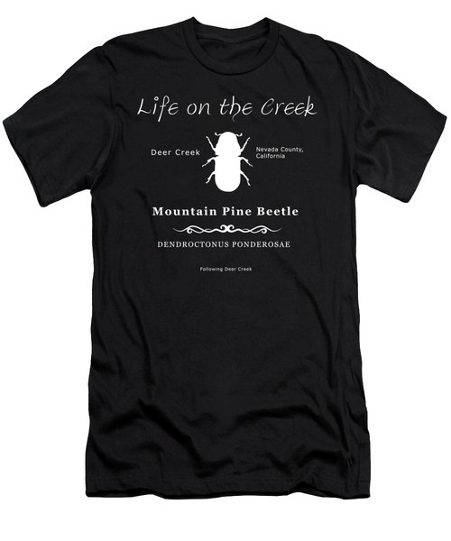 Mountain Pine Beetle White On Black Men's T-Shirt (Athletic Fit)