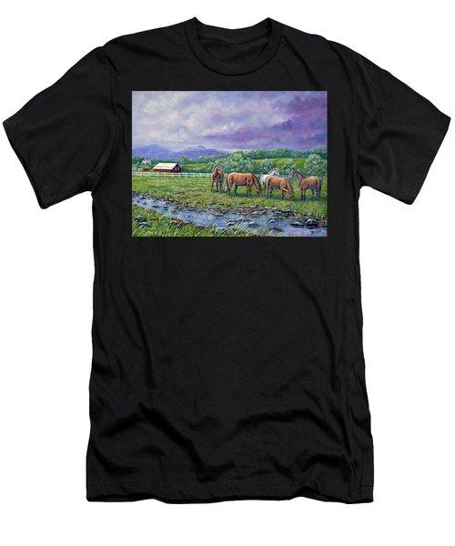 Mountain Rain Men's T-Shirt (Athletic Fit)