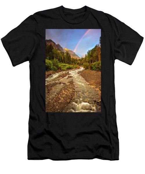Mountain Rainbow Men's T-Shirt (Athletic Fit)