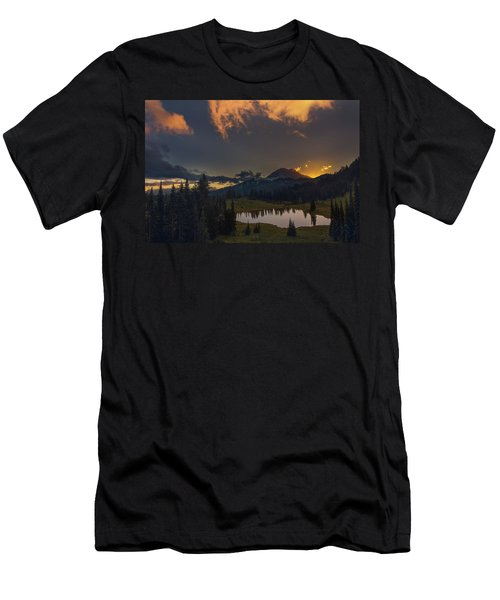 Men's T-Shirt (Athletic Fit) featuring the photograph Mountain Show by Gene Garnace