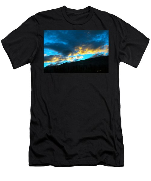 Men's T-Shirt (Slim Fit) featuring the photograph Mountain Silhouette by Madeline Ellis
