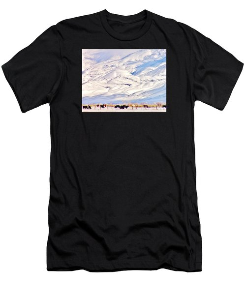 Mountain Snow Men's T-Shirt (Athletic Fit)
