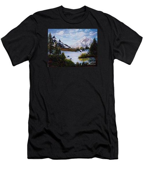 Mountain Splendor Men's T-Shirt (Slim Fit) by Myrna Walsh