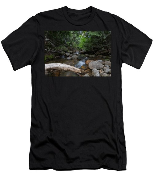 Men's T-Shirt (Athletic Fit) featuring the photograph Mountain Stream by Fran Riley