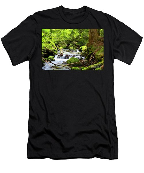 Mountain Stream In The Pacific Northwest Men's T-Shirt (Athletic Fit)