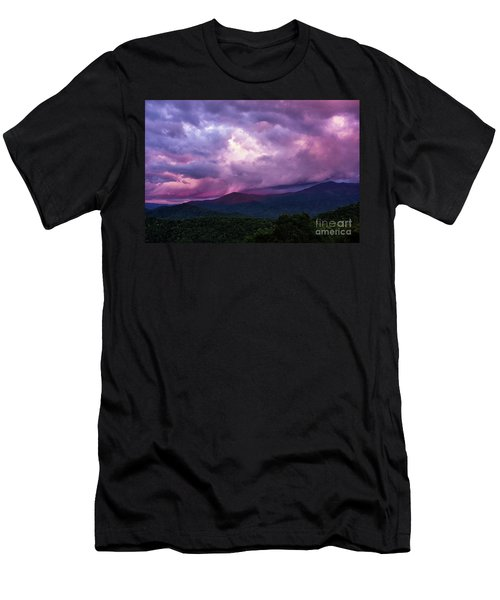 Mountain Sunset In The East Men's T-Shirt (Athletic Fit)