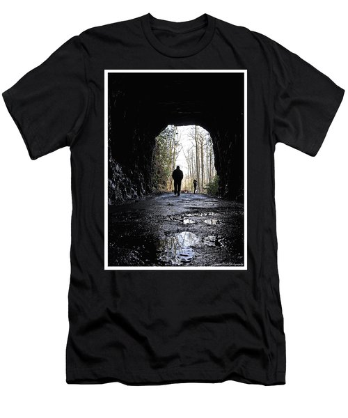 Mountain Tunnel Men's T-Shirt (Athletic Fit)