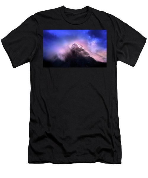 Men's T-Shirt (Slim Fit) featuring the photograph Mountain Twilight by John Poon