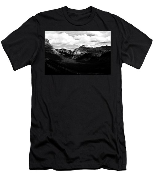 Mountain Valley Landscape Men's T-Shirt (Athletic Fit)
