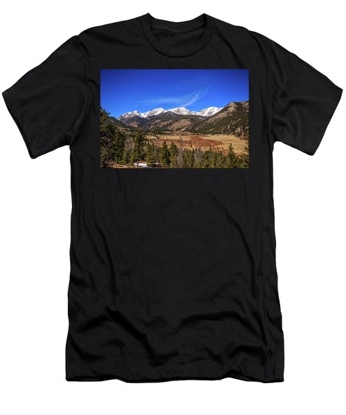 Mountain View From Fall River Road In Rocky Mountain National Pa Men's T-Shirt (Athletic Fit)