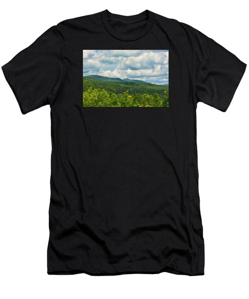 Mountain Vista In Summer Men's T-Shirt (Athletic Fit)