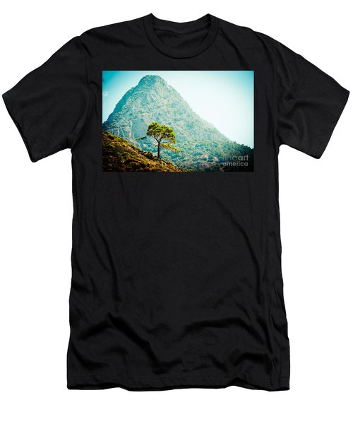 Mountain With Pine Artmif.lv Men's T-Shirt (Athletic Fit)