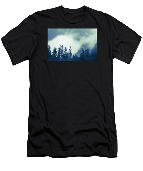 Men's T-Shirt (Slim Fit) featuring the photograph Mountains And Fog by Michele Cornelius
