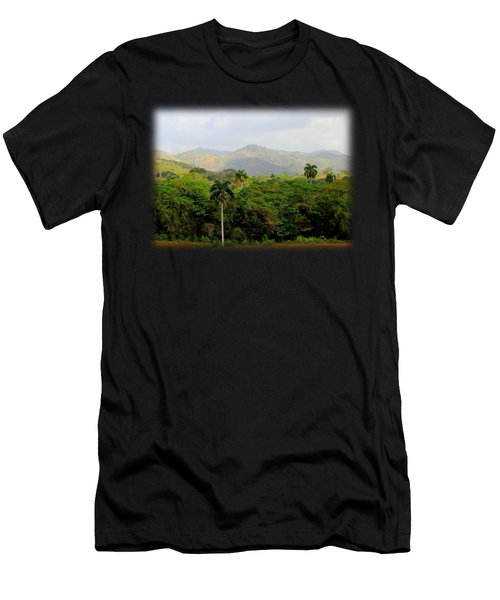 Mountains And Palms Men's T-Shirt (Athletic Fit)