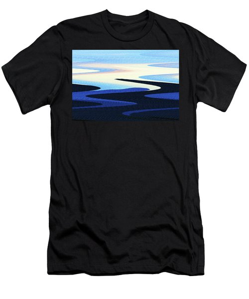 Mountains And Sky Abstract Men's T-Shirt (Athletic Fit)