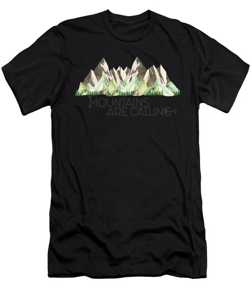 Mountains Are Calling Men's T-Shirt (Athletic Fit)