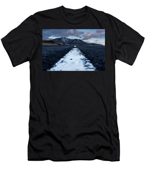 Men's T-Shirt (Athletic Fit) featuring the photograph Mountains In Iceland by Pradeep Raja Prints