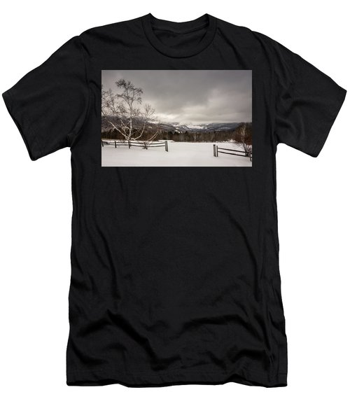 Mountains In Winter Men's T-Shirt (Athletic Fit)