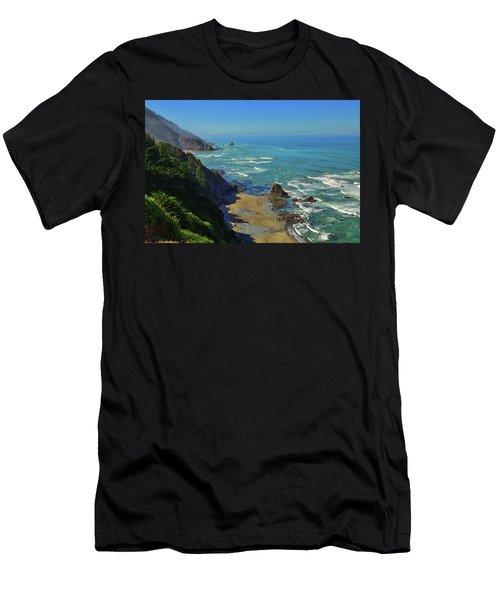Mountains Meet The Sea Men's T-Shirt (Athletic Fit)