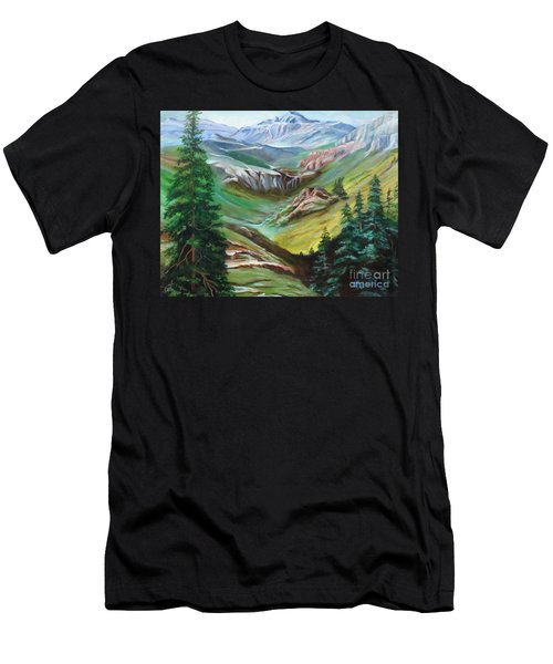 Mountains Of Color Men's T-Shirt (Athletic Fit)