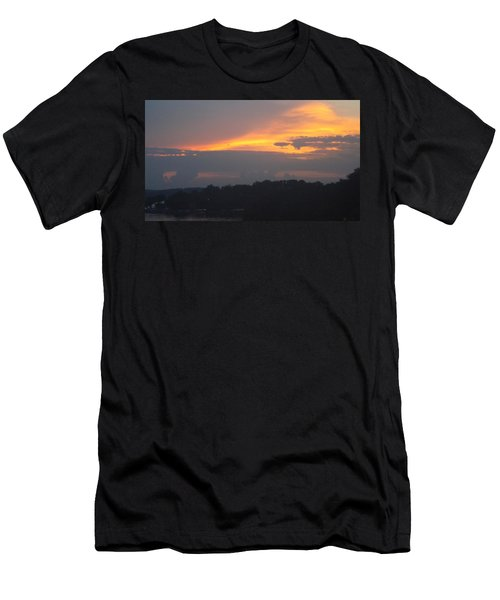 Mountains Of Gold  Men's T-Shirt (Slim Fit) by Don Koester