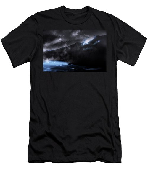 Men's T-Shirt (Slim Fit) featuring the photograph Mountains Of The Blue Ridge by Gray  Artus