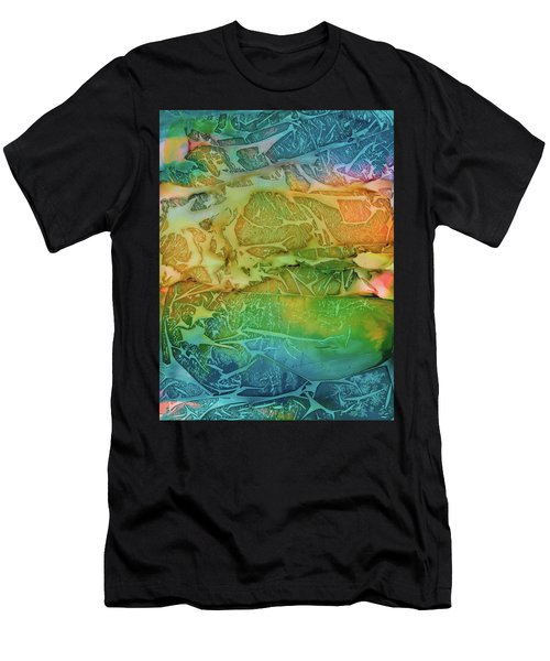 Mountains, Trees, Icy Seas Men's T-Shirt (Athletic Fit)