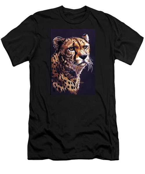 Men's T-Shirt (Slim Fit) featuring the drawing Movin On by Barbara Keith