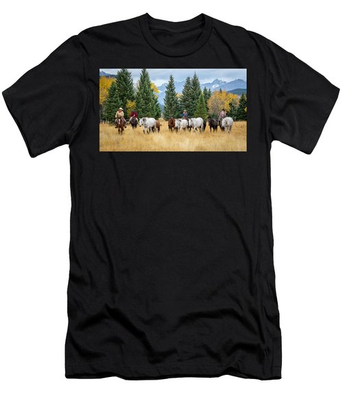 Moving The Herd Men's T-Shirt (Slim Fit) by Jack Bell