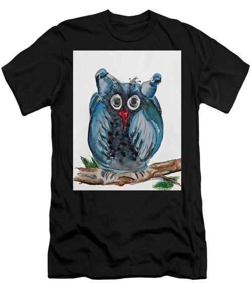 Mr. Blue Owl Men's T-Shirt (Athletic Fit)