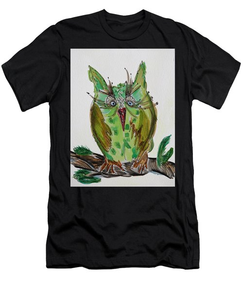 Mr.lime Owl Men's T-Shirt (Athletic Fit)