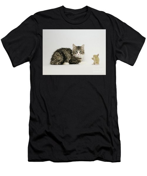 Men's T-Shirt (Athletic Fit) featuring the photograph Ms Alexia And Mouse by Irina ArchAngelSkaya