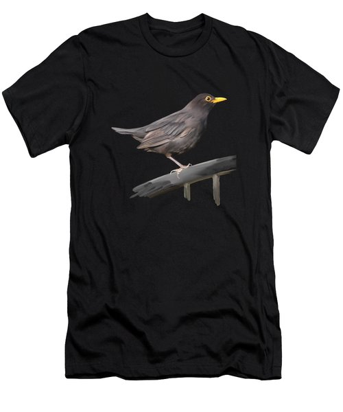 Men's T-Shirt (Athletic Fit) featuring the painting Ms. Blackbird Is Brown by Ivana Westin
