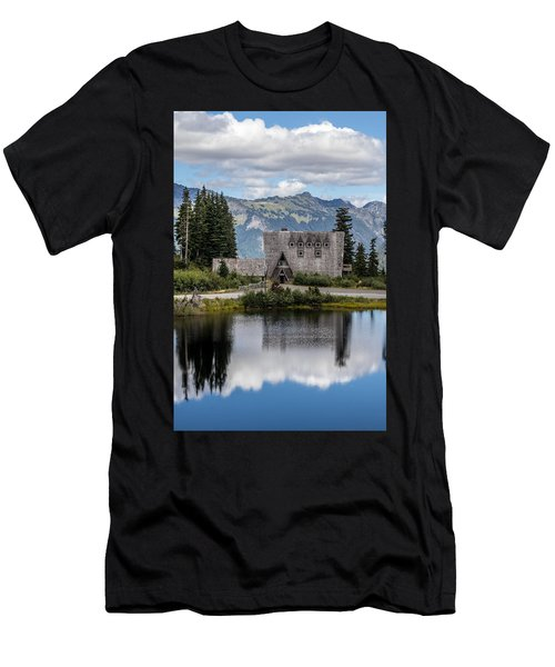 Mt Baker Lodge Reflecting In Picture Lake 3 Men's T-Shirt (Athletic Fit)