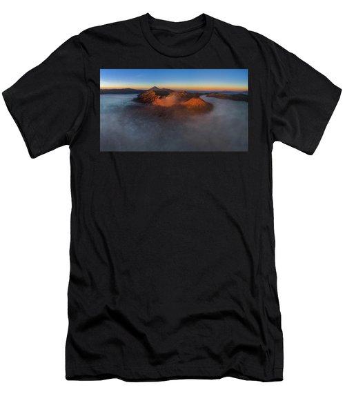 Men's T-Shirt (Athletic Fit) featuring the photograph Mt Bromo Sunrise by Pradeep Raja Prints