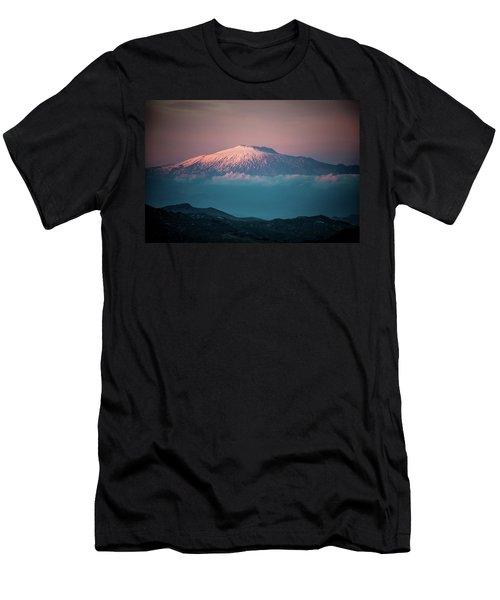 Mt. Etna II Men's T-Shirt (Slim Fit) by Patrick Boening
