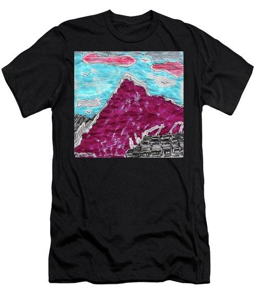 Mt. Fuji Village  Men's T-Shirt (Athletic Fit)