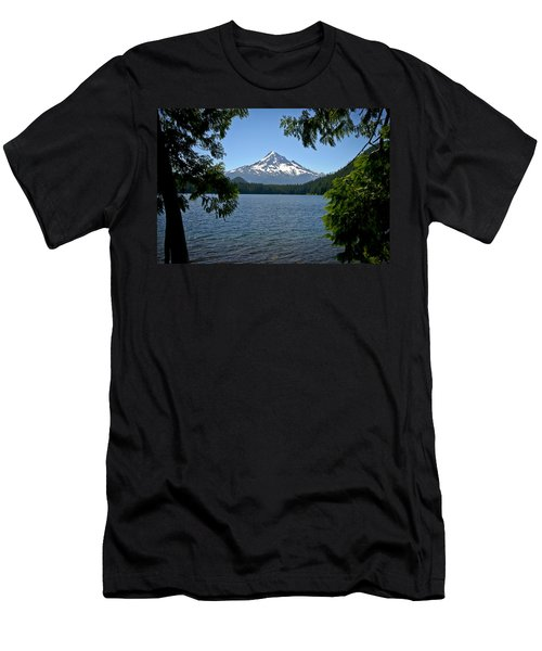 Mt Hood Over Lost Lake Men's T-Shirt (Athletic Fit)