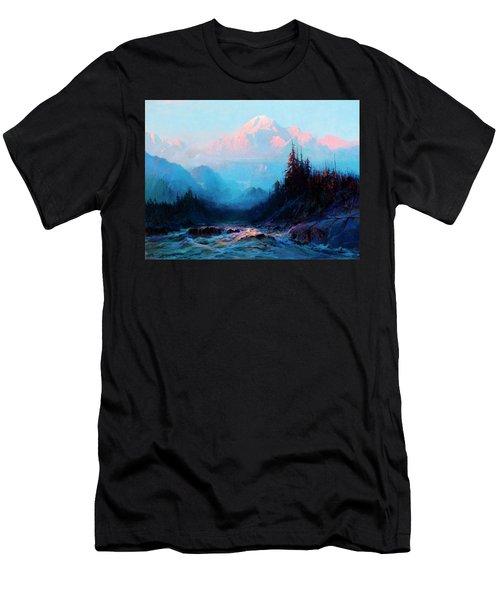 Mt. Mckinley Above The Tokosheetna Men's T-Shirt (Athletic Fit)