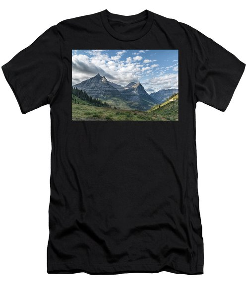 Mt. Oberlin From Logan Pass Men's T-Shirt (Athletic Fit)