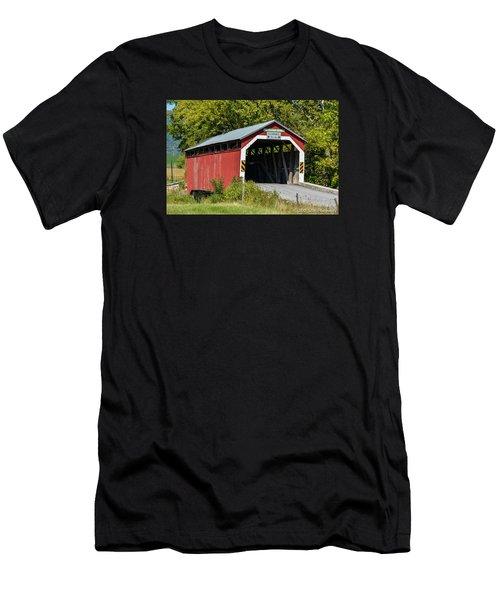 Mt. Pleasant Covered Bridge Men's T-Shirt (Athletic Fit)