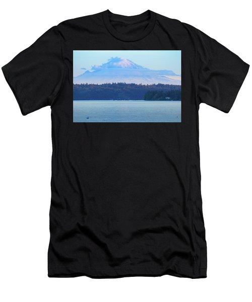 Mt. Rainier From Manchester Men's T-Shirt (Athletic Fit)