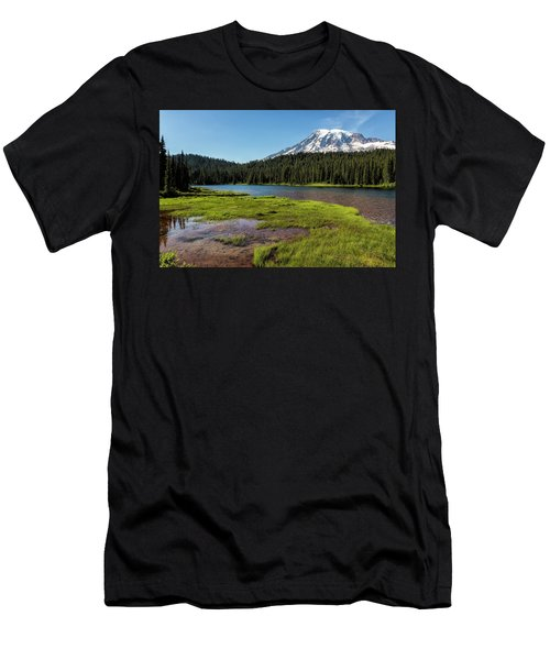 Mt Rainier From Reflection Lake, No. 2 Men's T-Shirt (Athletic Fit)