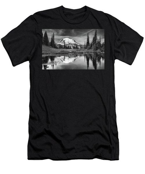 Mt Rainier In Reflection Men's T-Shirt (Athletic Fit)