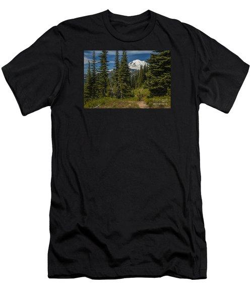Mt. Rainier Naches Trail Landscape Men's T-Shirt (Athletic Fit)