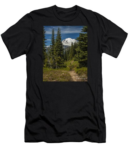 Mt. Rainier Naches Trail Portrait Men's T-Shirt (Athletic Fit)
